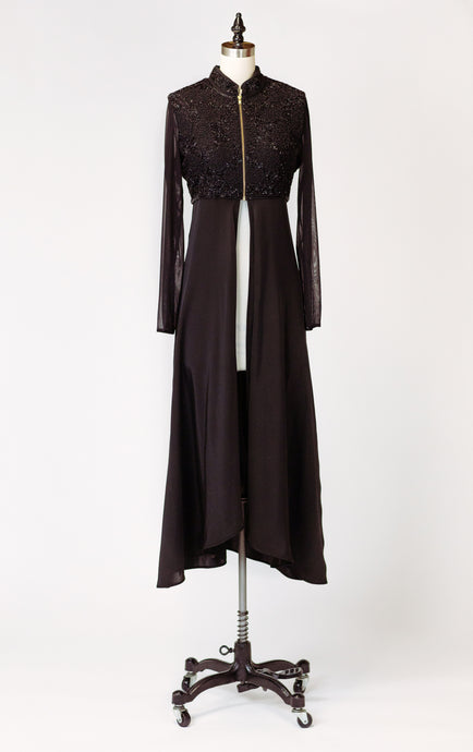 Black-Tie Beaded Duster