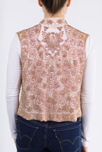 Beaded Cropped Vest - Rose Gold