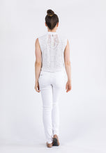 Beaded Cropped Vest  - Ivory & Crystal