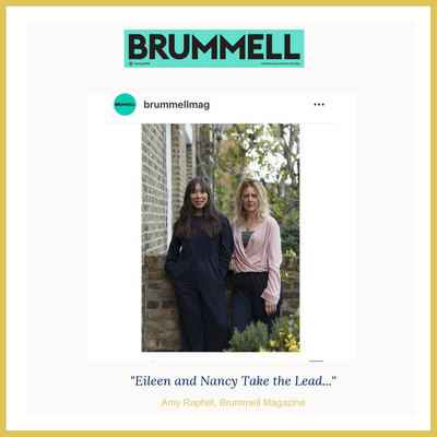 Brummell Magazine Features Nancy and Eileen