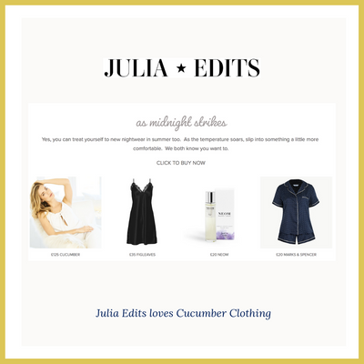 Julia Edits loves Cucumber Clothing