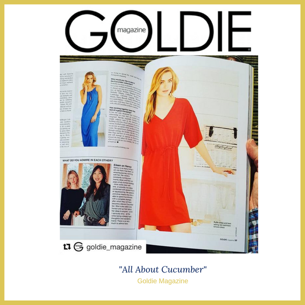 Goldie Magazine Loves Cucumber Clothing