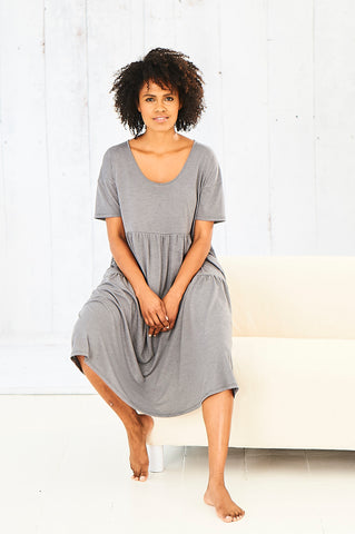 grey cucumber cool dress