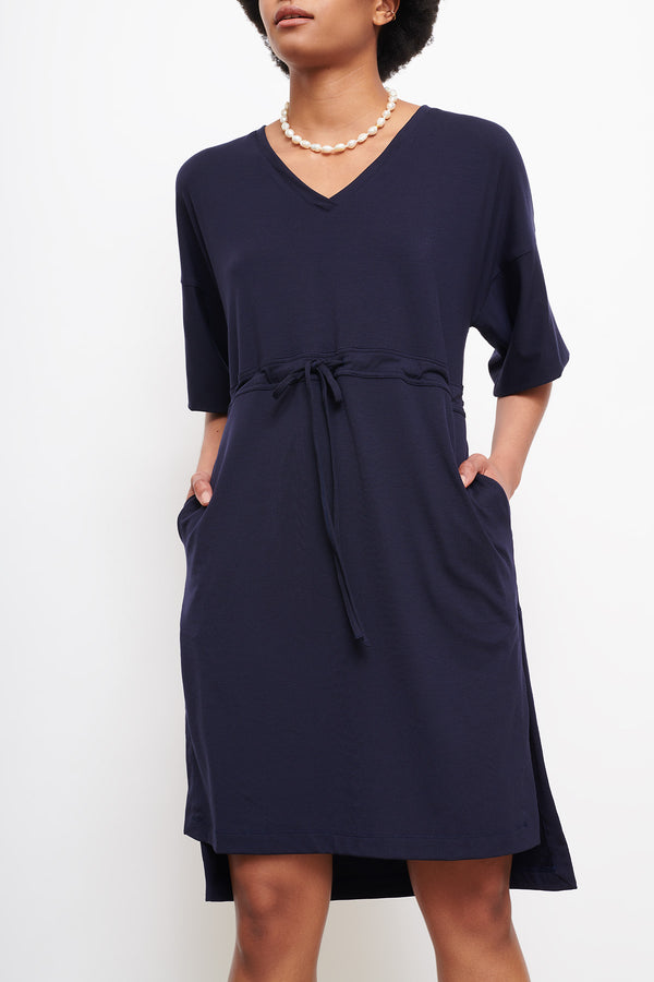 cashmere-mix-cooling-breathable-cucumber-clothing-drawstring dress