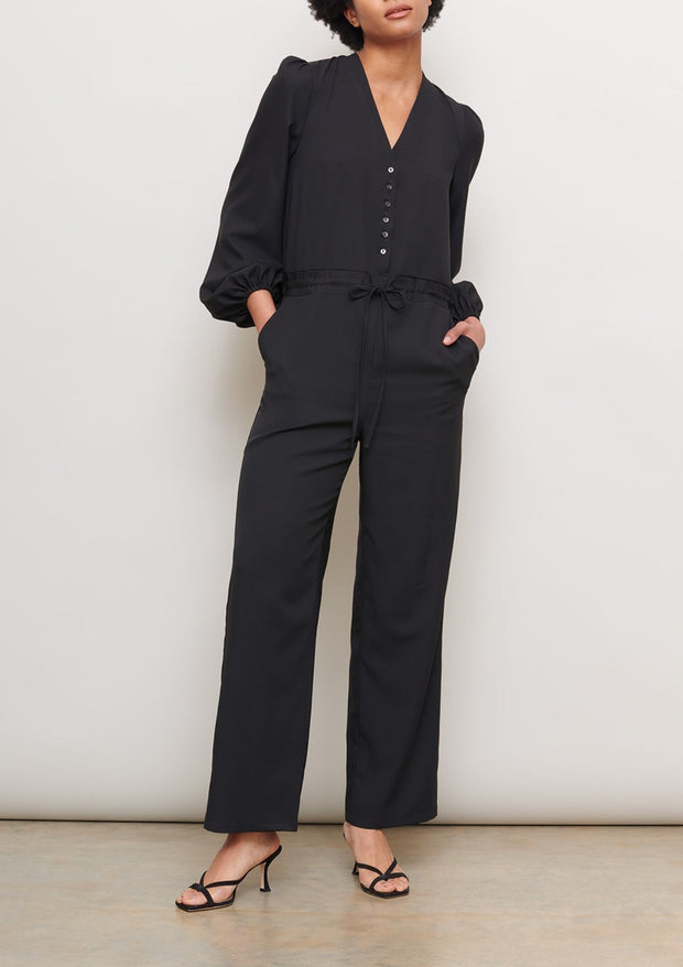 jumpsuit-black-shell-button-relaxed-sustainable-cooling-cucumber-clothing