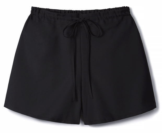 Shell Button Drawstring Shorts