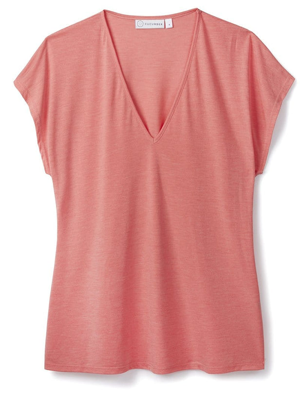 Coral V Neck Top 37.5® Technology Jersey