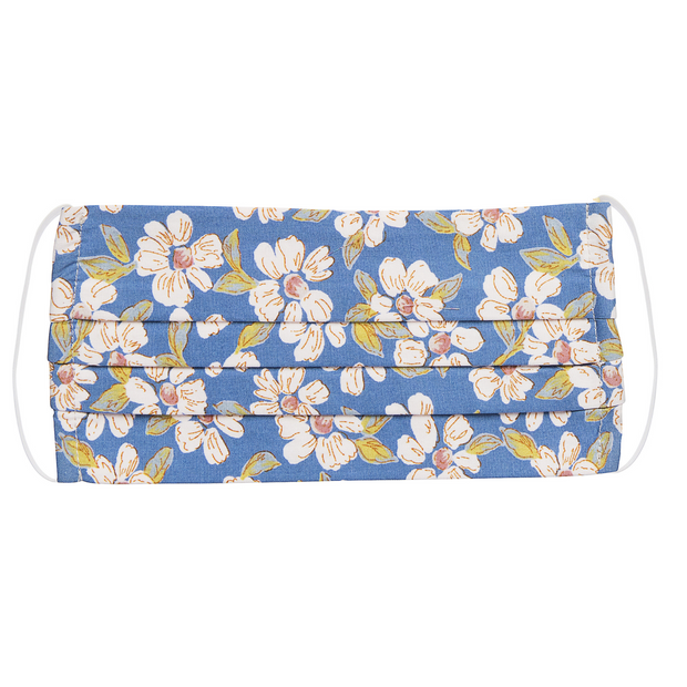 Mask Dark Blue Floral