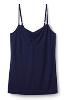 cooling-breathable-volcanic-mineral-technologyclothing- navy-strappy-top-built-in-bra-shelf-Cucumber-Clothing