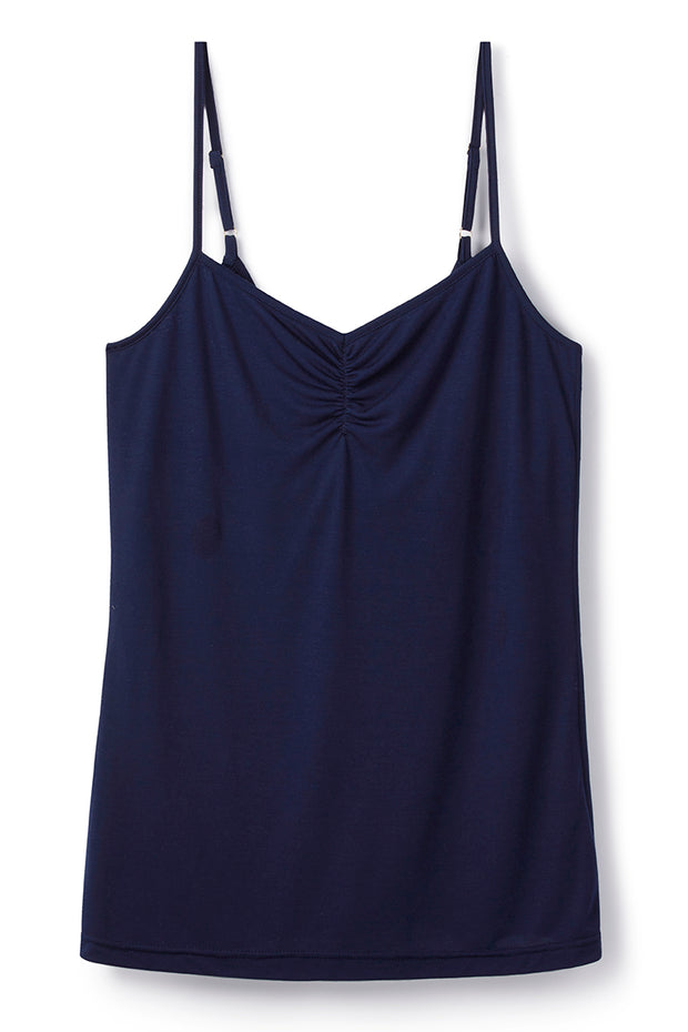 cooling-clothing- navy-strappy-top-built-in-bra-shelf-Cucumber-Clthing