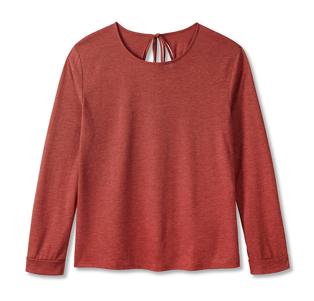 Keyhole Tee in Paprika