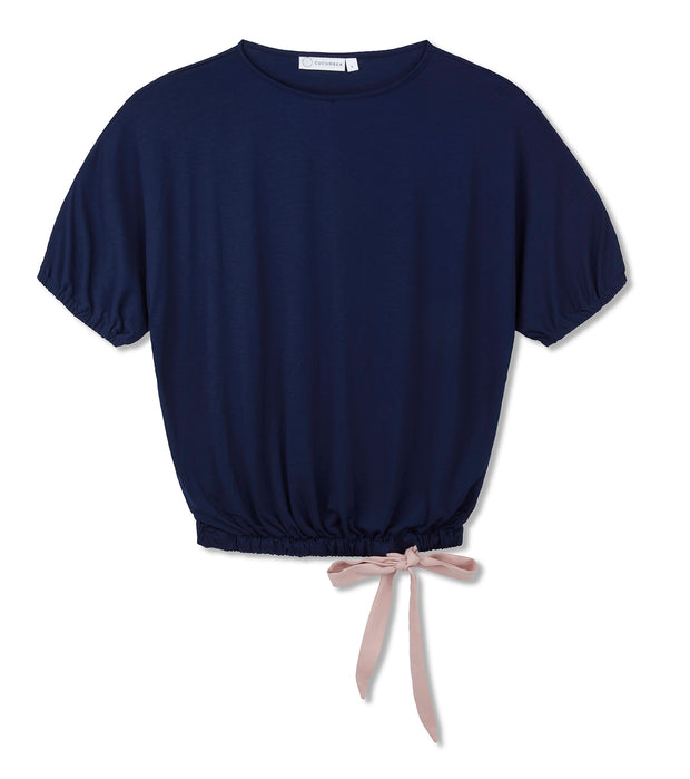 ribbon-tie-top-navy-37.5technology-volcanic-mineral-fabric-cooling-breathable-cucumber-clothing