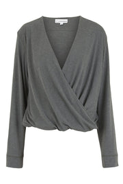 sweat wicking jersey wrap top
