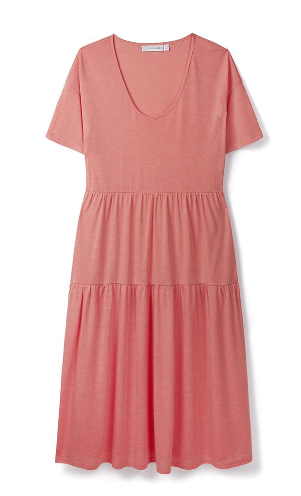Coral Tiered Dress in 37.5 Technology Jersey