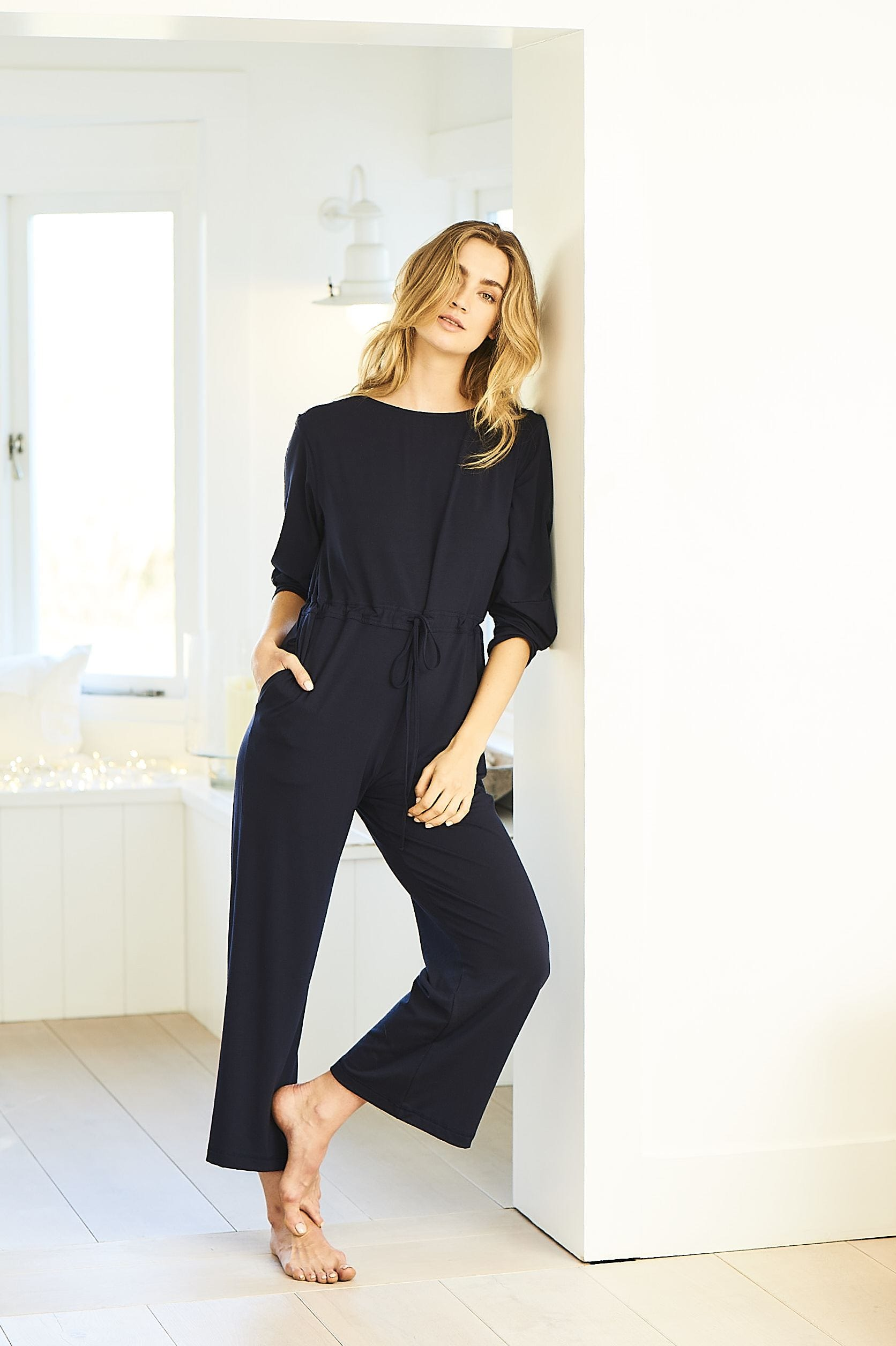 cf5424d55f3 Cashmere Jumpsuit in Dark Navy - Cucumber Clothing Limited