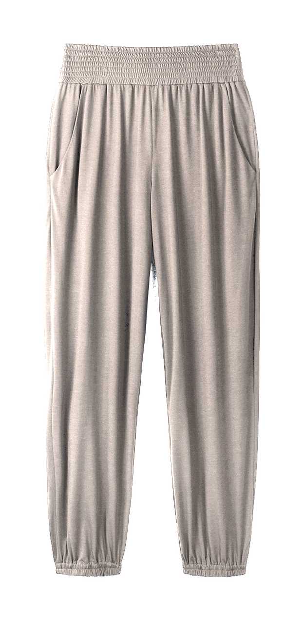 fawn-shirred-track-pants-luxury-performance-clothing-cucumber-clothing