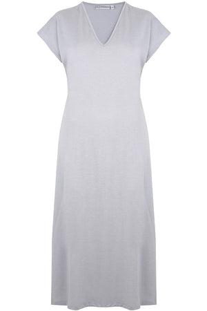 Silver V Neck Nightdress
