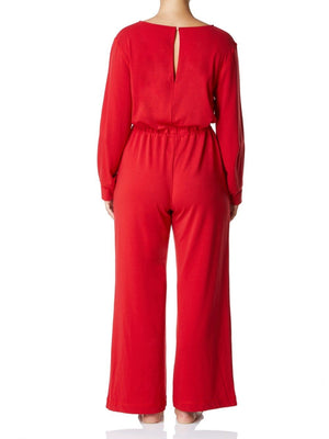 Cashmere Collection Jumpsuit, Fire Engine Red
