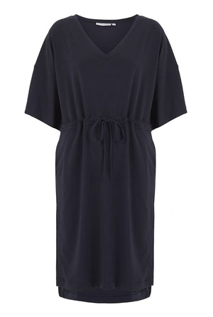 Cashmere Collection Kimono Dress, Dark Navy