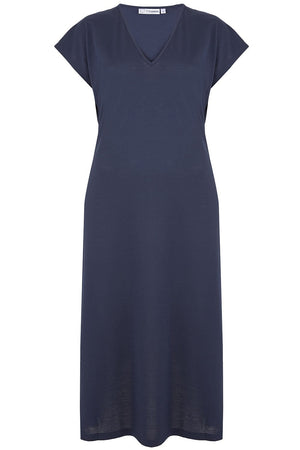 Navy V Neck Nightdress