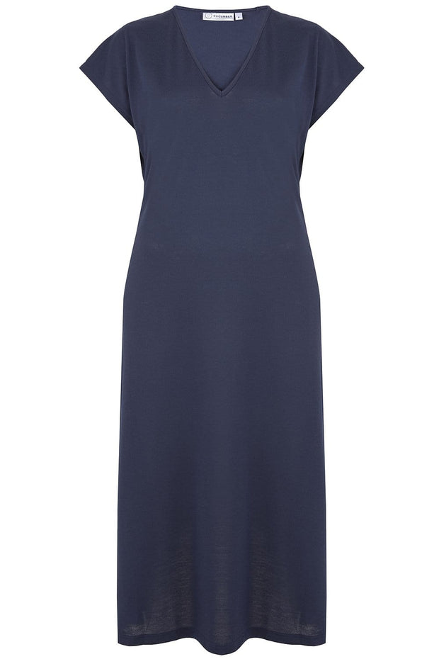 V Neck Dress in Navy