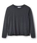 round-neck-long-sleeve-tee-grey-wicking-cooling-sustainable-side-slit-cucumber-clothing