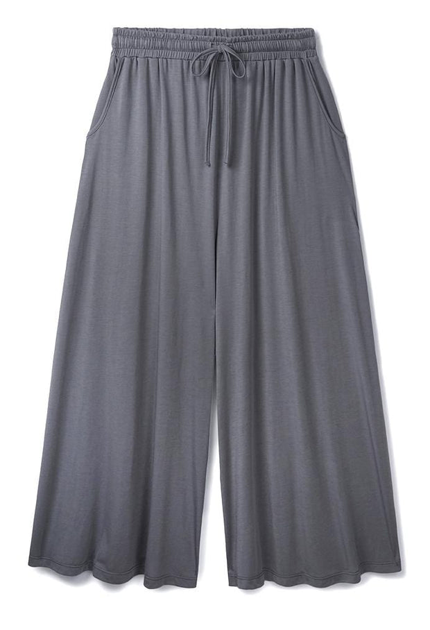 Wide Leg Culottes in Stone