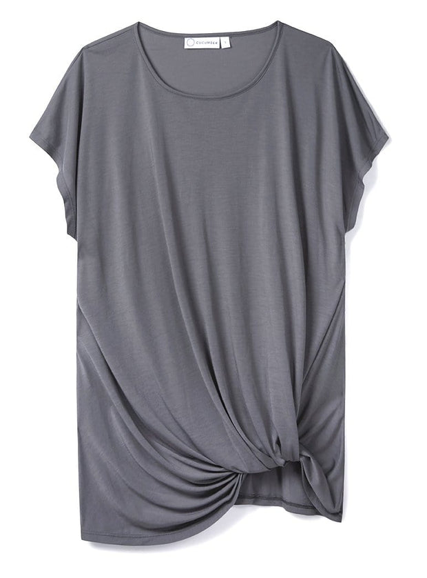 Stone Drape Knot Tee in 37.5® Technology Jersey