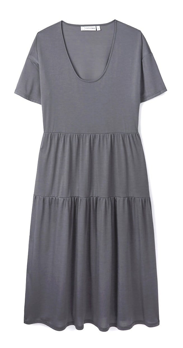 Stone Tiered Dress in 37.5® Technology Jersey