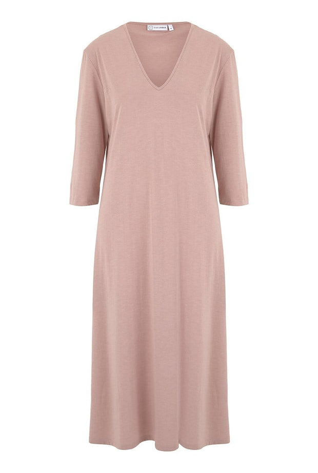 V Neck Dress in Rose