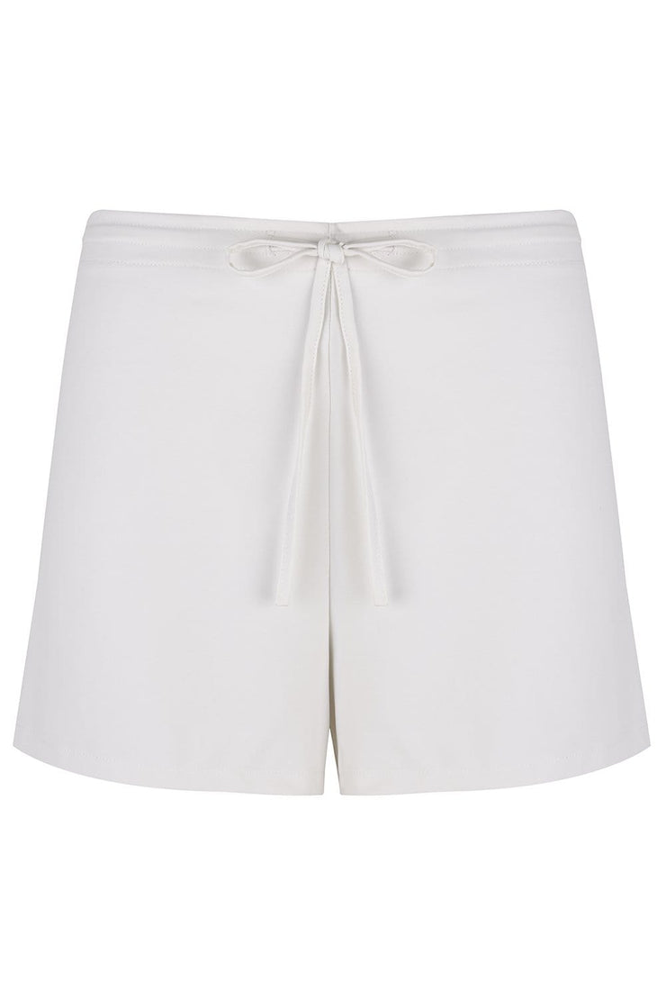 Cream Drawstring Shorts