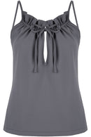 Ruffle Top in Slate