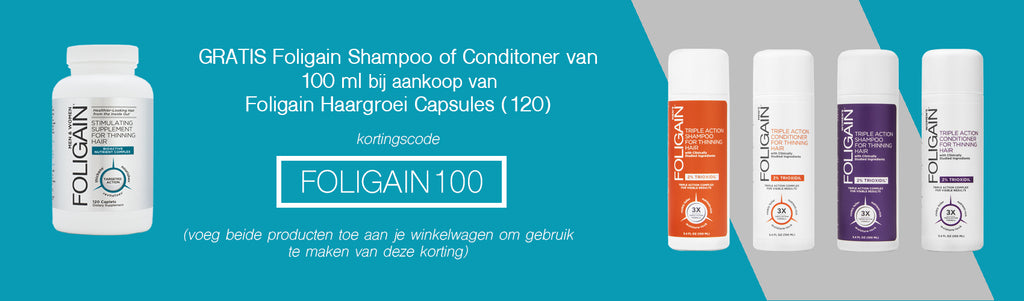 Foligain Haargroei Capsules met gratis Foligain shampoo of conditioner