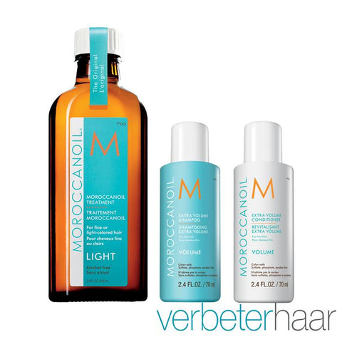 Moroccanoil Volume Treatment Set plus GRATIS Treatment Light