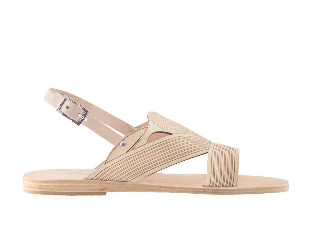 Nelia | Natural Low Heel Sandal