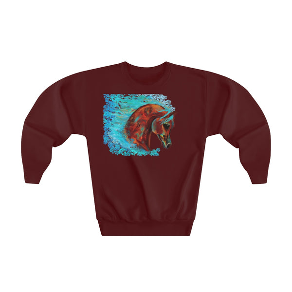 Horse of Many Colors Kids Youth Crewneck Sweatshirt
