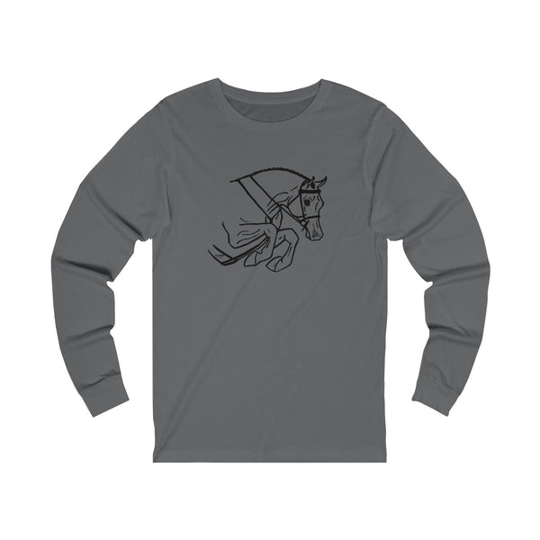 Hunter Jumper Arabian Horse Unisex Jersey Long Sleeve Tee