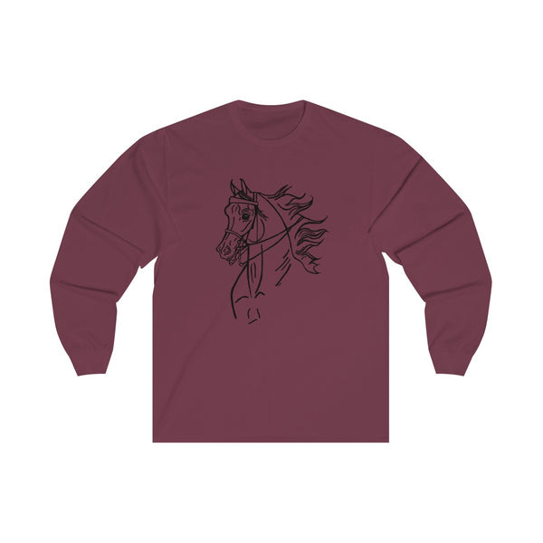 English Pleasure or Country English Arabian Horse Unisex Long Sleeve Tee