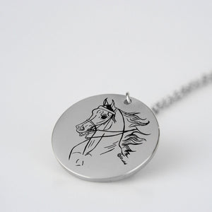 Arabian Horse English Pleasure Necklace