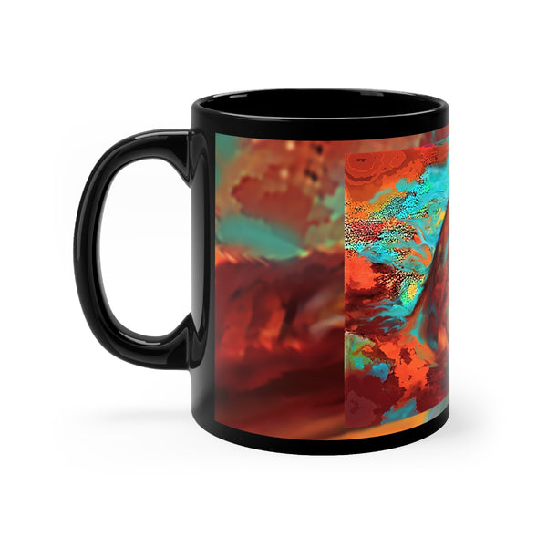 Arabian Horse of Many Colors Black mug 11oz