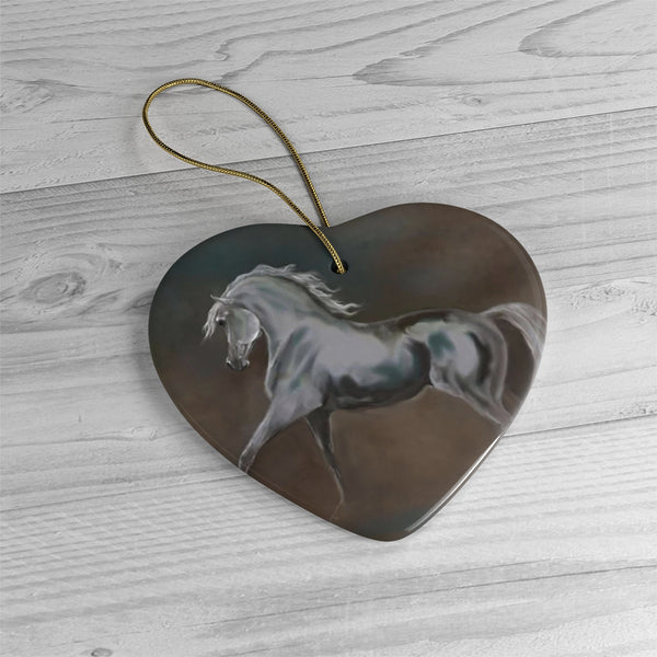 Beautiful Horse Print on Ceramic Ornaments, or Wall Hanging, Horse Art to hang