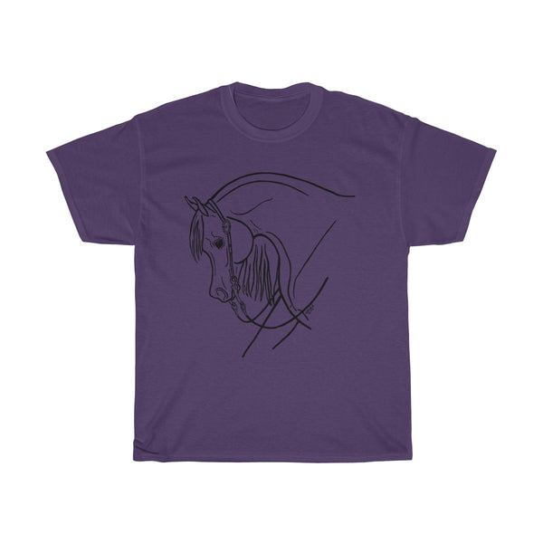 Western Pleasure Arabian Horse Unisex Heavy Cotton Tee Shirt
