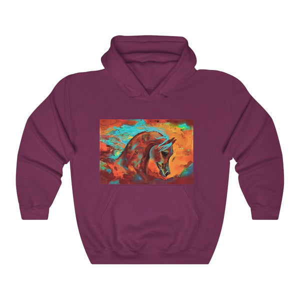 Arabian Horse of Many Colors HoodieUnisex Heavy Blend™ Hooded Sweatshirt
