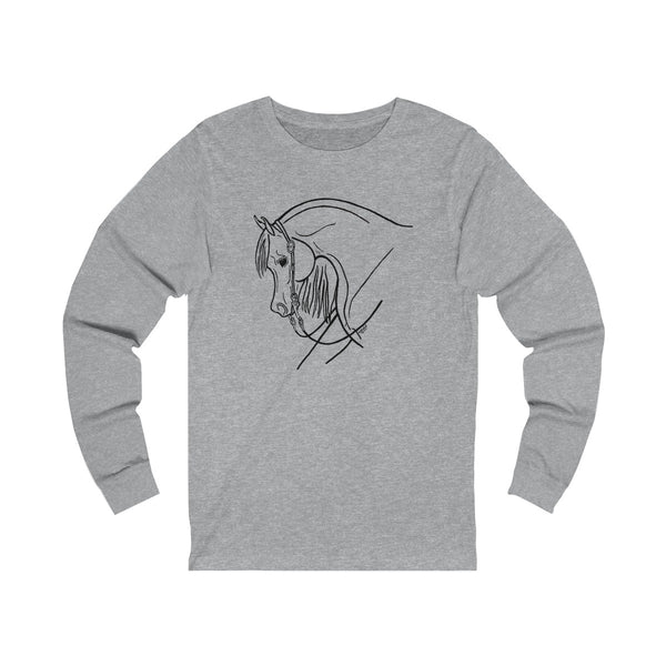 Western Pleasure Arabian Horse Long Sleeve T Shirt