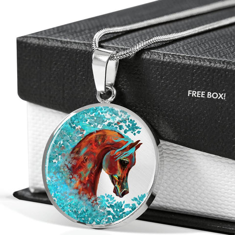 Horse of Many Colors Luxury Necklace