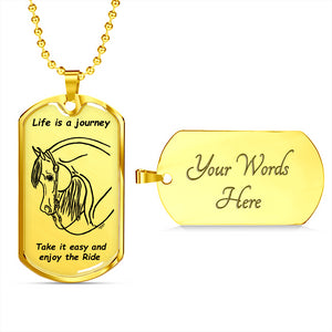 Western Pleasure Relax and Enjoy The Ride Arabian Horse Necklace