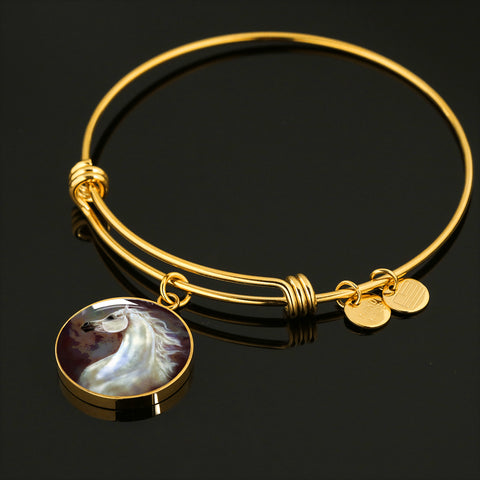 Arabian Horse Bracelet Stainless Steel or 18K Gold Plate