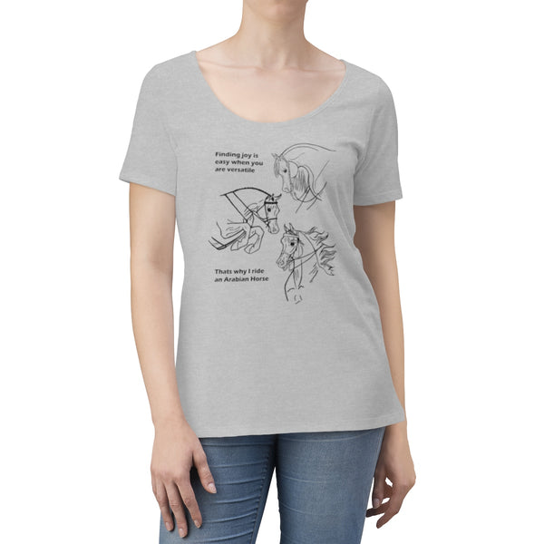 Arabian Horse Versatile Inspirational Women's Scoop Neck T-shirt