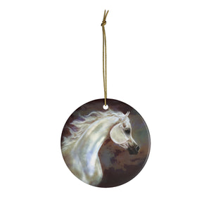 Light Grey Beautiful Arabian Horse Ornament