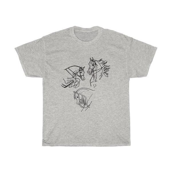 Arabian Horses do it all! Unisex Heavy Cotton Tee